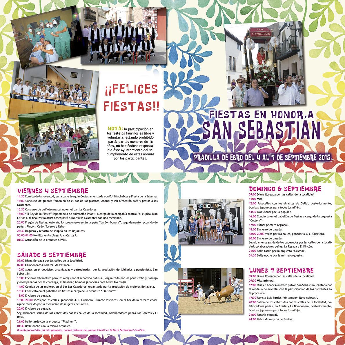 Programa Fiestas Septiembre 2015