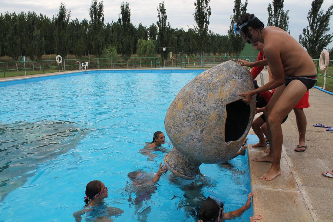 Naufragio en la piscina